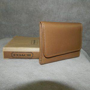Coach Vintage 'Signature Card Case' #4897 Chamois!